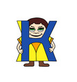child english alphabet letter k vector image