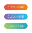 Click Here flat button set vector image