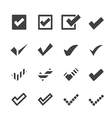 confirm icons vector image