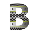 perforated metal letter B vector image