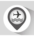 plane and water icon vector image