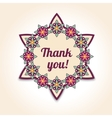Thank you floral card in Template for vector image