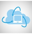 Cloud technology laptop media icon vector image