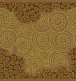 seamless african pattern sketch circular vector image