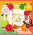 summer background beautiful colorful dahlia flower vector image