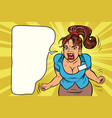 businesswoman shouting rage and anger vector image