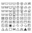 laundry and washing icon set vector image