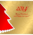 Christmas fir of gems vector image