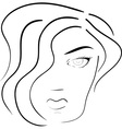 face of woman vector image