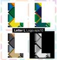 3d font letter L vector image