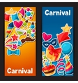 Carnival show and party banners with celebration vector image