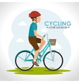Bike and cyclism graphic design vector image