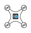 Drone camera isolated silhouette icon vector image vector image