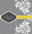 gray invitation with white floral elements vector image