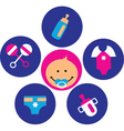 baby and infant vector image