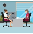 business woman talk with her boss interview job vector image