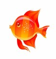 Cute Golden Fish Cartoon vector image