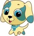 cute puppy vector illustration vector image