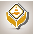 hands tools construction symbol vector image