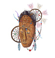 Mask and Dreamcatcher vector image