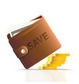 pocket bag save money vector image