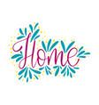 script handmade lettering word for social media vector image