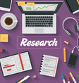 Trendy Flat Design Research vector image