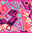 bright geometric pattern vector image