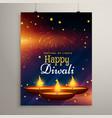 flyer design for diwali festival diwali greeting vector image