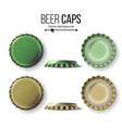 beer cap  colorful bottle caps mock up vector image