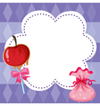 A stationery with sweets vector image vector image
