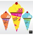 Colorful ice cream EPS10 vector image vector image