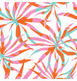Abstract watercolor pattern with palms vector image