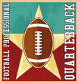 quaterback professional football vector image vector image