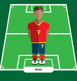 Computer game Spain Football club player vector image
