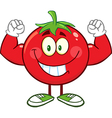 Muscly Tomato Cartoon vector image