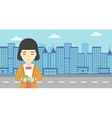 Business woman handcuffed for crime vector image