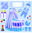 blue set of childrens cradle vector image
