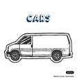 Minibus for cargo transportation vector image