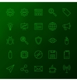 Programming Skills Line Icons vector image