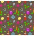 Seamless christmas pattern Bright colored holly vector image