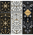 SET OF THREE DECORATIVE DESIGNS vector image