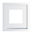 white picture or photo frame vector image