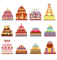 Cake pie isolated vector image