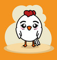 cute little chicken cartoon vector image