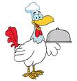 Chicken chef cartoon vector image