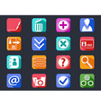 flat internet account setting long shadow icons vector image