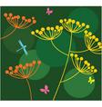 garden scene vector image vector image