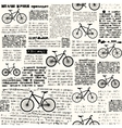 Newspaper with different bicycles vector image