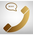 Phone with speech bubble sign vector image